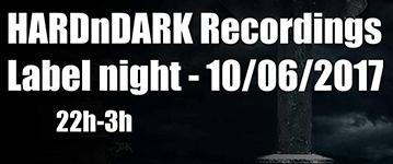 HARDnDARK Recordings Label night